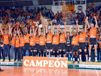 CAI Voleibol Teruel, campeón de la Copa del Rey 2015